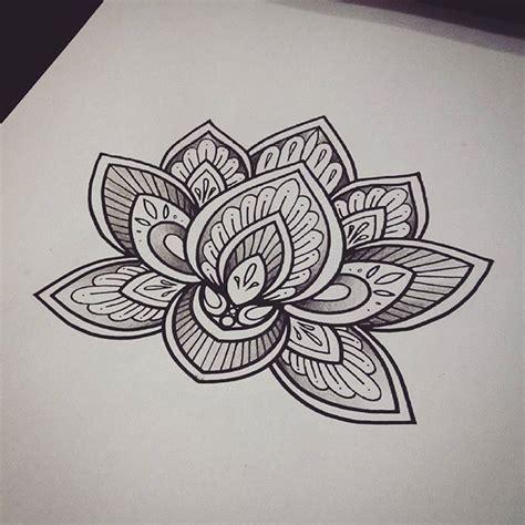 lotus tattoo designs black and white 35 best lotus tattoo images on pinterest mandala tattoo