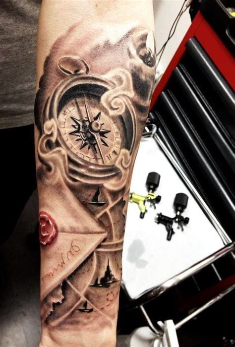 tattoo n 3d compass tattoo i want to incorporate this with a