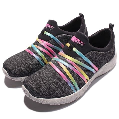 skechers multi color shoes skechers burst alter ego grey multi color casual