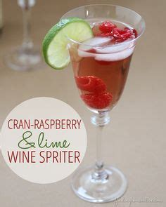 cranberry raspberry lime mocktails diy monogram wine glass charms erin spain pin inspired crafts projects and ideas