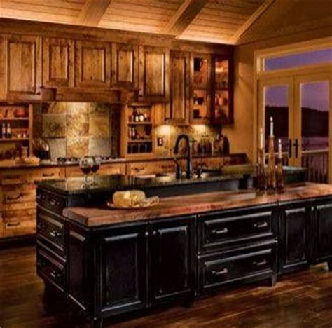 Rustic Black Kitchen Cabinets by Kitchen With Black Rustic Cabinets Kitchen Cabinets