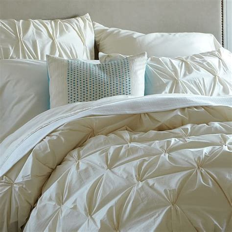Organic Duvet Covers organic cotton pintuck duvet cover shams west elm