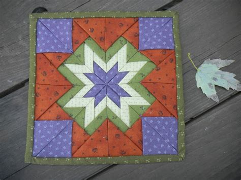 Folded Patchwork Patterns - quilted folded pad quilt