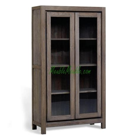 wooden cabinet on wood display cabinet modern aged