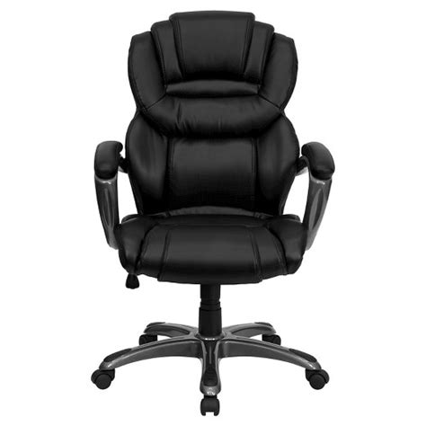 Target Leather Chairs by Executive Swivel Office Chair Black Leather Flash