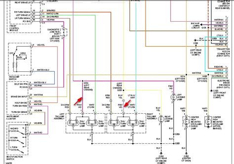 dodge backup light wiring diagram dodge alternator wiring