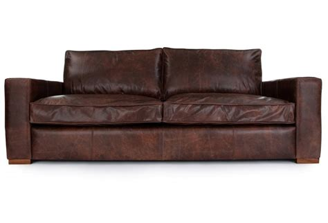 Battersea Vintage Leather Large 4 Seater From Old Boot Four Seater Leather Sofa