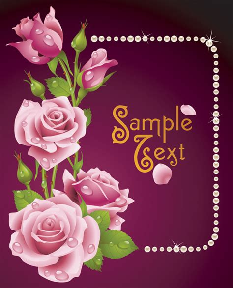 Free Wish Gift Card - romantic roses greeting cards vector free vector 4vector