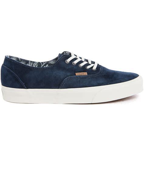 vans era decon ca navy suede sneakers in blue for lyst