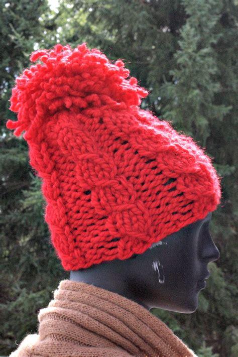 pom pom knitting patterns twisted stitch pom pom hat knitting pattern knits end
