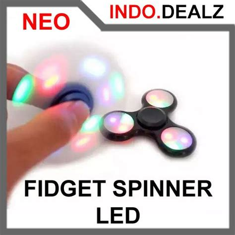 Premium Finger Fidget Spinner Bluetooth Led Mainan Khusus jual mainan fidget spinner lu led disco l toys