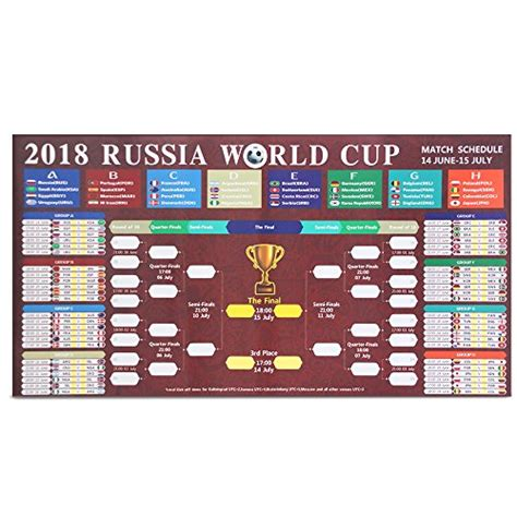 official fifa world cup 2018 schedule time table