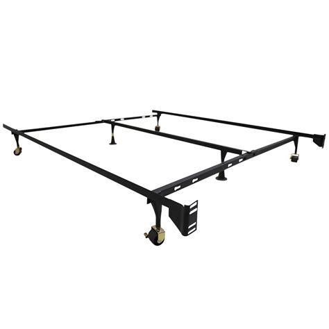 Center Bed Frame Support Adjustable Metal Bed Frame Mattress Foundation W Center Support Ebay