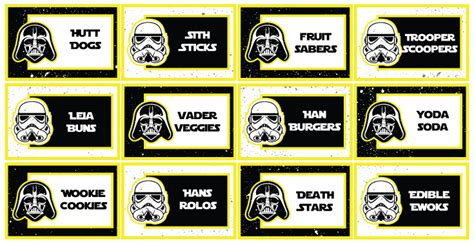 Ultimate Star Wars Party Guide Parties Full Of Wonder Wars Food Labels Template Free
