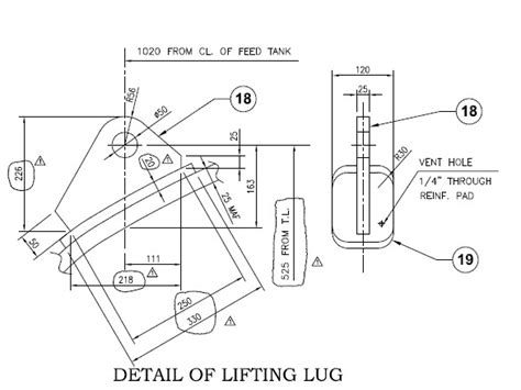 design criteria for lifting lugs lifting lugs on vertical vessel top head asme