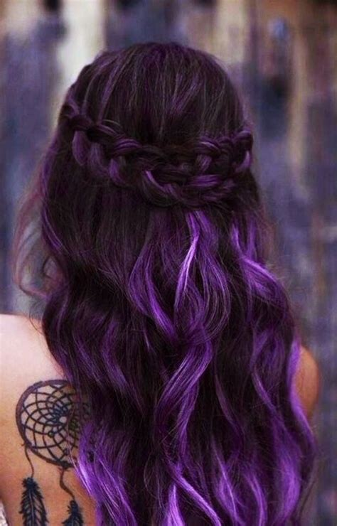 weave hairstyles with purple tips 1000 ideas about purple weave hair on pinterest full