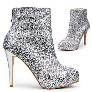 silver sparkle like minogue style bootie x