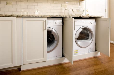 how to hide washer and dryer in bathroom hidden washer and dryer transitional laundry room
