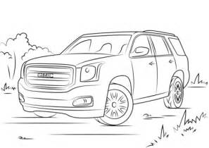 coloring pages gmc truck gmc yukon coloring page free printable coloring pages