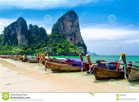 buy a boat thailand traditional thai boats at the beach of krabi provi stock