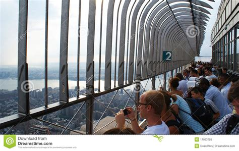 empire state building deck vs top deck empire state building observation deck editorial image