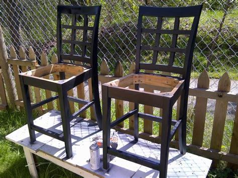 upside down bar stool 4 the love of wood how to paint bar stools numbered