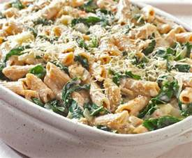 vegetarian oven baked pasta with cheese and spinach recipe