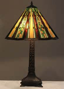 tiffany style stained glass mission lamp prairie w 18 shade