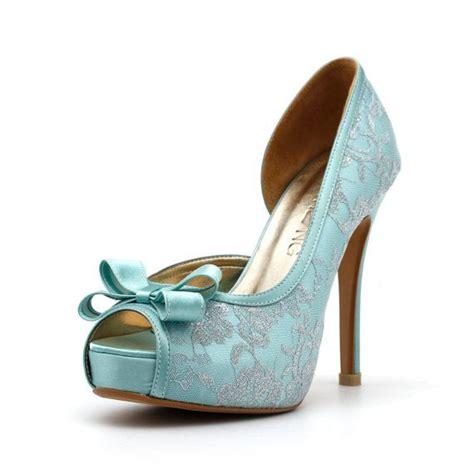 Blue Wedding Heels by Bleu Talons De Mariage Robbin Bleu Oeufs