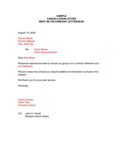 cancellation letter vacancy cancellation letter sles archives sle letter
