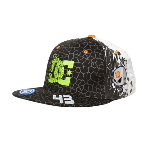 Topi Snapback Dc Blok Skull mens ken block cracked hat dc shoes ken block dc ken block hats and shoes