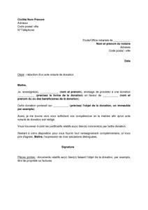 lettre de demande 224 un notaire de r 233 daction d un acte de