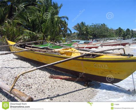 small fishing boat in the philippines fishing bankas small outrigger boats philippines stock