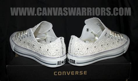 Wedding Shoes Converse by Custom Vintage Lace Wedding Converse Canvas Warriors