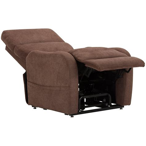 recliner city city furniture nora brown fabric power lift recliner