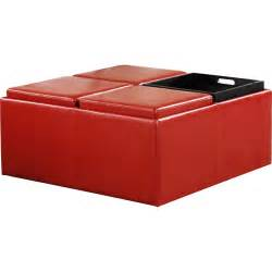 Cocktail Storage Ottoman Cocktail Storage Ottoman With 4 Trays Faux Leather Walmart