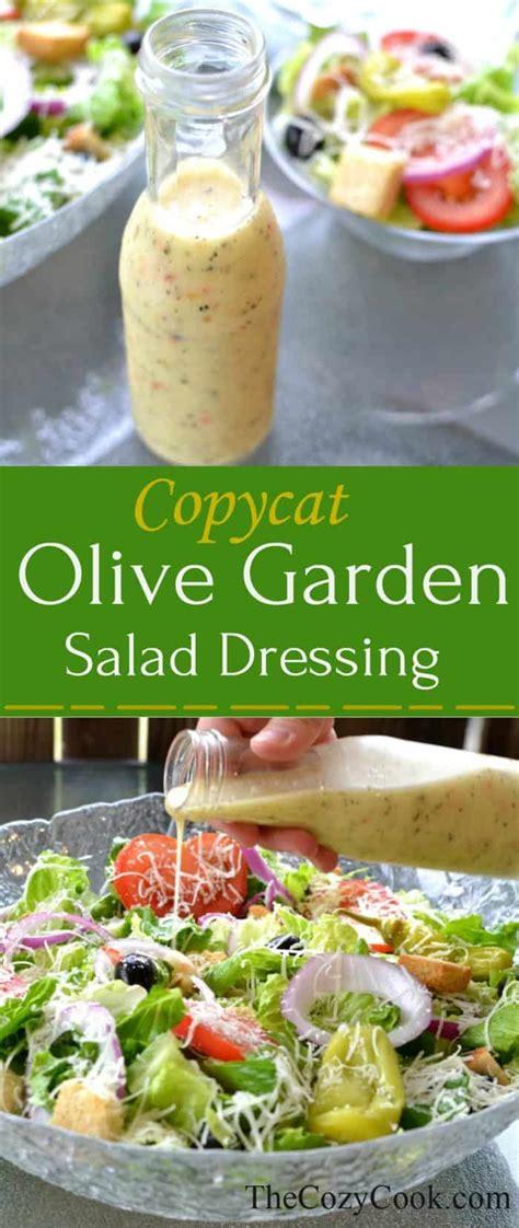 1 serving of olive garden salad copycat olive garden salad dressing the cozy cook