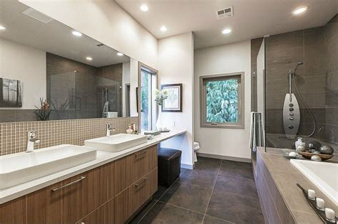 Modern Master Bathroom Contemporary Master Bathroom With Concrete Tile Subway Tile Zillow Digs