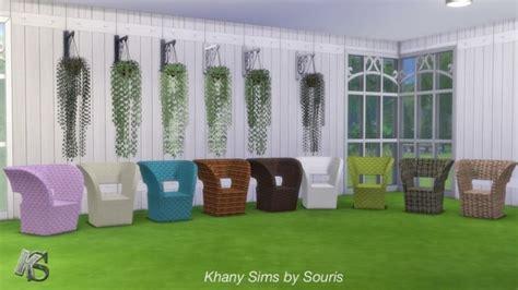 sims 4 veranda set veranda with plants and armchair at khany sims 187 sims