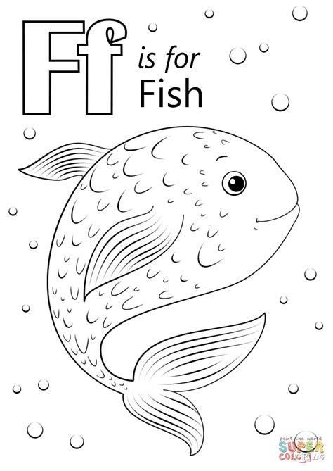 F Is For Fish Coloring Page f is for coloring page coloring home