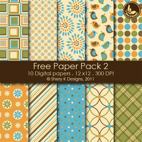 How To Make Digital Scrapbook Paper - free digital paper pack 2 shery k designs