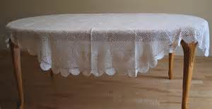 Inch Round Table Linens - 72 inch x 108 inch oval hand crochet lace table cloth