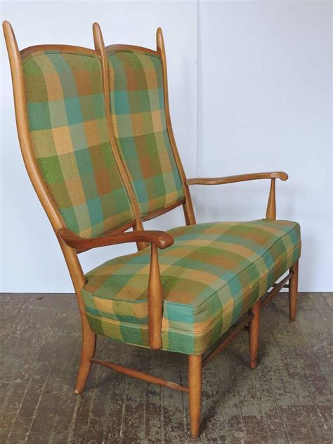 high back settee sale edward wormley high back maple settee for sale at 1stdibs