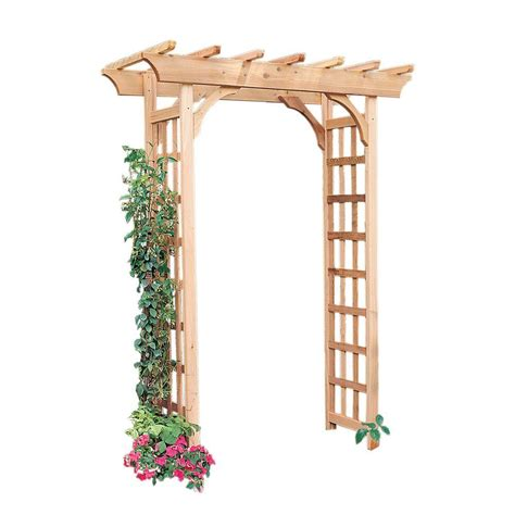arboria rosedale 83 x 65 in outside cedar arbor 820 6003