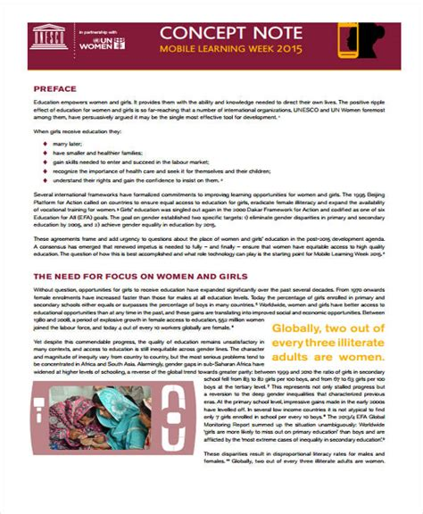 design concept write up exle 9 concept note templates free sle exle format