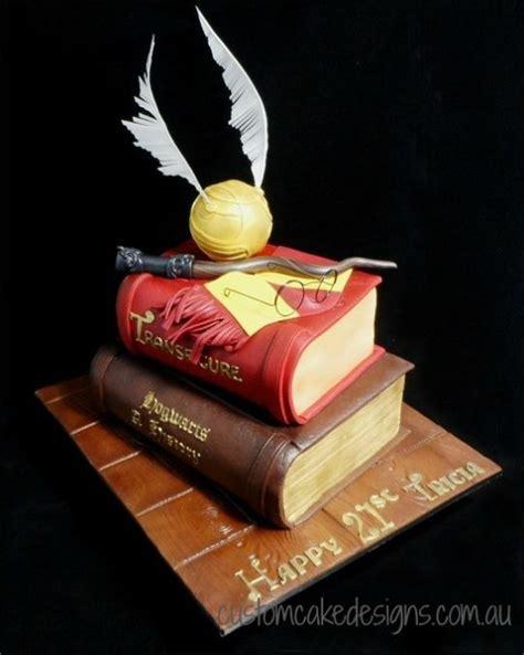 Harry Potter Books 21st Cake   Cake by Custom Cake Designs