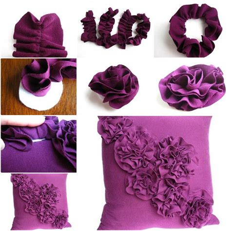 How To Hump A Pillow Step By Step by How To Make Flower Pillow Decoration Step By Step Diy