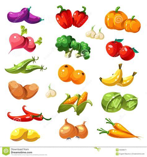 alimento biologico frutas y verdura vector de los iconos alimento