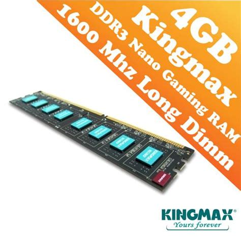 Ram Nano Komputer kingmax ddr3 pc 1600 4gb dimm end 8 1 2017 12 00 am