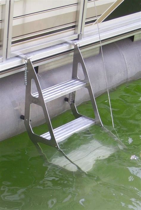 under deck mount pontoon ladder tooner ii pontoon retractable ladder pontoon deck boat